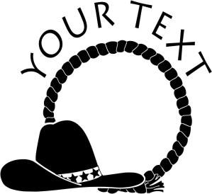 Cowboy Rope and Hat Decal