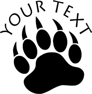 Animal Paw Decals